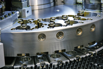 close up of cnc machinery