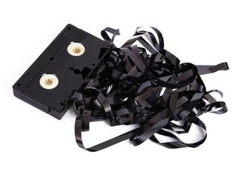 videocassetta srotolata