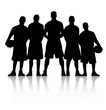 Basketball Team Silhouette vector