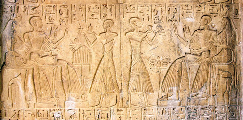 Relief of Ancient Egypt's Figures
