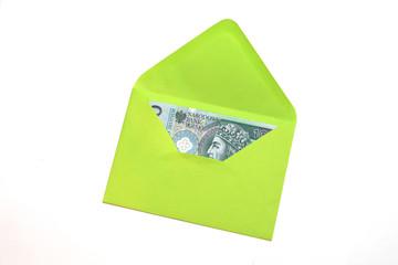 Polish Money in envelope