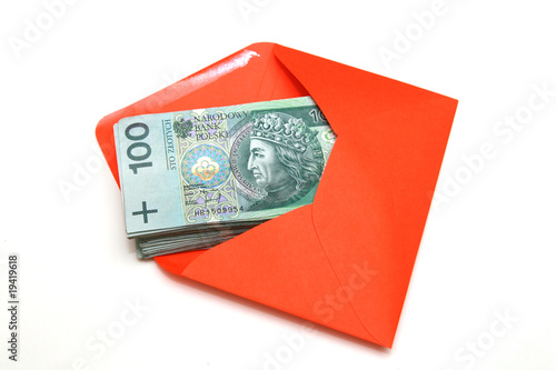 Polish money in envelope