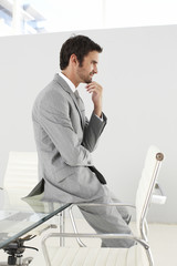 Man standing in design office