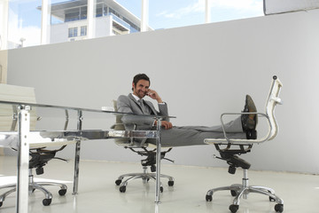 Businessman in his design office