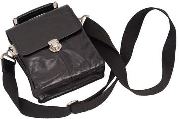 Man's black bag.