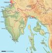 Istrien - Karte mit Relief