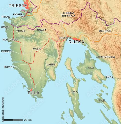 Istrien Karte Zum Ausdrucken.Fototapete Istria Karte Landkarte Globus Südeuropa Pixteria