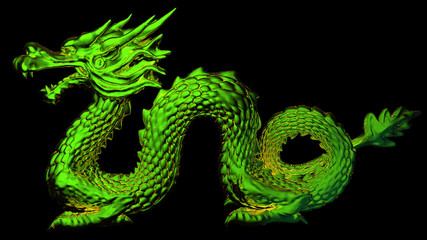 3D - EGN - Dragon Green