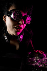 Goth girl DJ