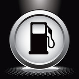 gas icon under spotlight poster