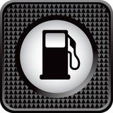 gas icon black checkered web button poster