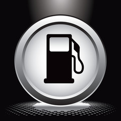 gas icon under spotlight