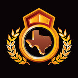 texas state orange and red royal display poster