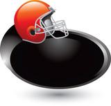 football helmet silver swoosh poster