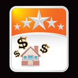 home investment orange star backdrop poster