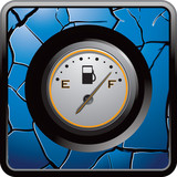 gas icon blue cracked web button poster