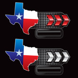 texas lonestar state red and white nameplate banners poster