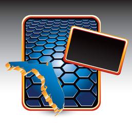 florida state blue hexagon template