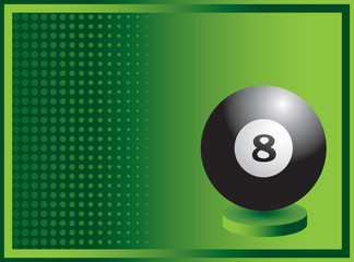 Eight ball green halftone banner