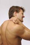 Neck strain injury poster