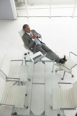 Senior businessman relaxing