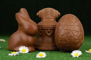trio en chocolat de la fête de Pâques