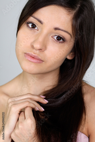 Closeup portrait of an attractive woman