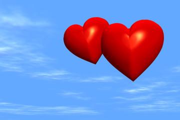 Zwei Herzen im Himmel