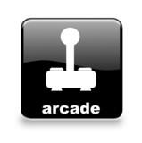 Button Arcade black poster