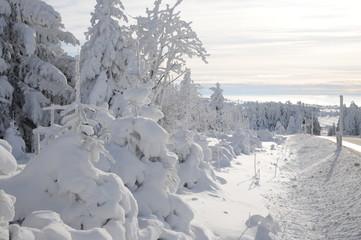 Winterlandschaft Fichtelberg