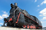 Fototapeta lokomotywa - niebo - Kolej