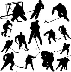 collection of hockey vector