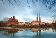 Wroclaw. Ostrow Tumski in december