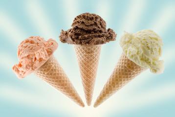 ice cream on cone