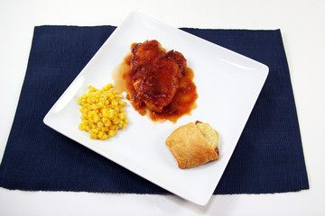 BBQ Chicken and Corn Plate