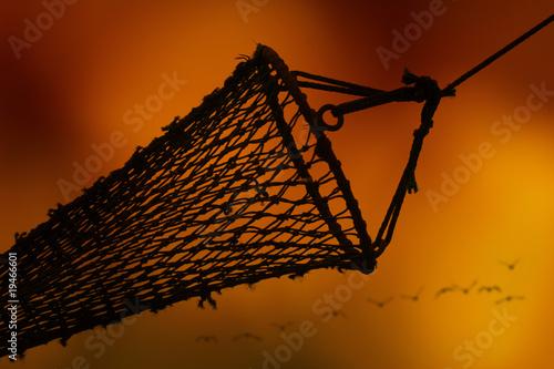 filet pêche pêcheur retour port chalutier hauturier poisson mer