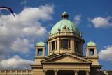 Belgrade parliament poster