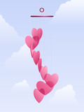 Love wind chimes poster
