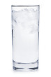 Full glass of ice water
