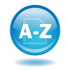 """A-Z"" round web button (vector - blue - index)"