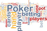 Background concept wordcloud of gambling betting gaming poster