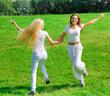 Girl lawn sport