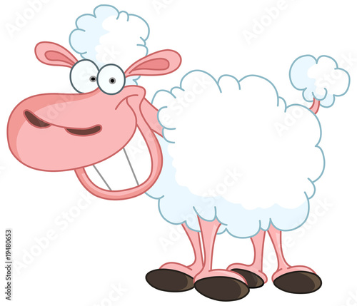 Funny Sheep with big smile