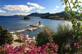 Fototapety Vlacherna Kloster und Mäuseinsel auf Korfu