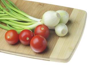Onions and tomatoes.