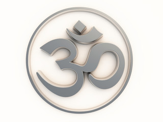 Om Sign silver AUM