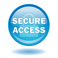 """SECURE ACCESS"" round web button (vector - piracy - security)"