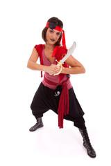 Happy pirate girl