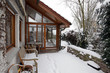 Wintergarten mit Zugang zur Terasse