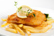 Fried fish fillet with chips - 19491031